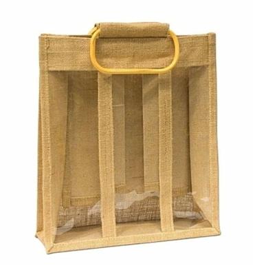 Jute Bottle Bag with (1/2/3/4/6 bottle bag) But quotation in 3 & 6 bottle bag
