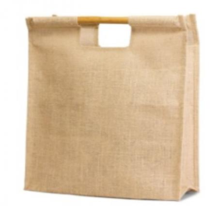 Jute BAMBOO HANDLE Shopping Bag