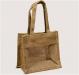 Jute Shopping Bag with PVC window